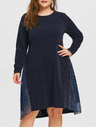 Plus Size Glitter Pleated Dress -