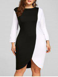 Color Block Plus Size Sheath Dress -