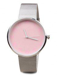 Number Face Alloy Mesh Strap Watch -