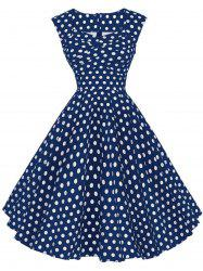 Polka Dot Sleeveless Party Dress -