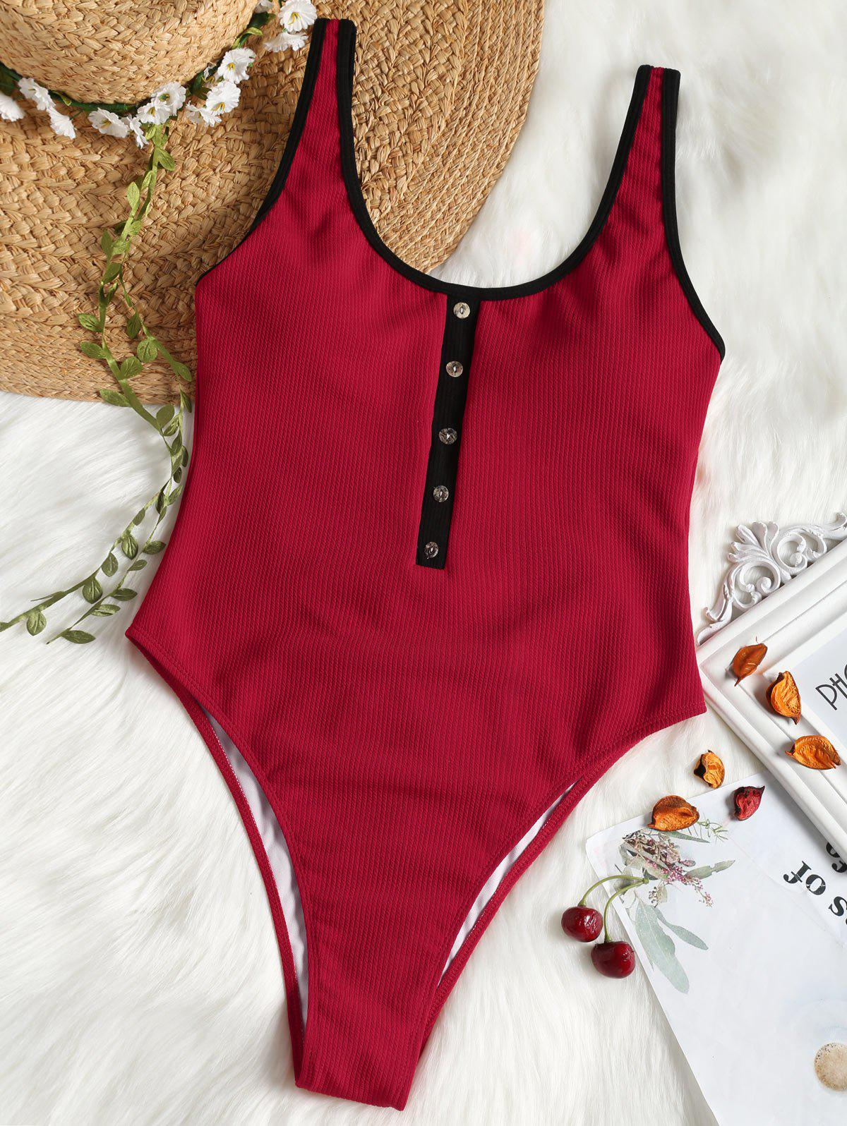 Latest One Piece Ribbed High Leg Swimsuit
