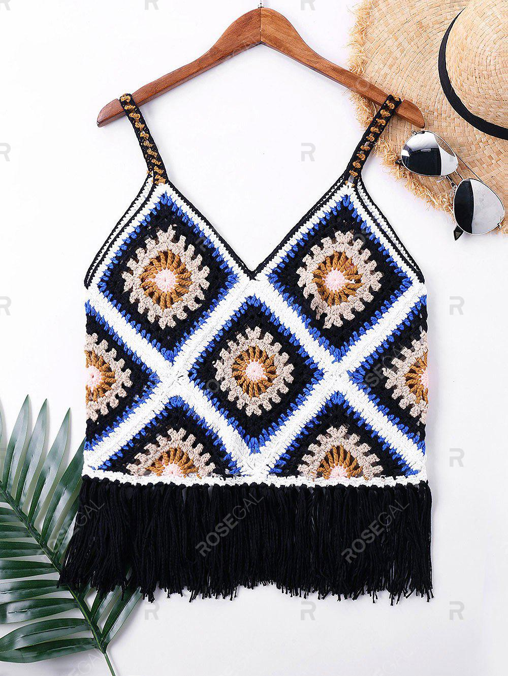 Best Crochet Knit Sleeveless Cover Up Top