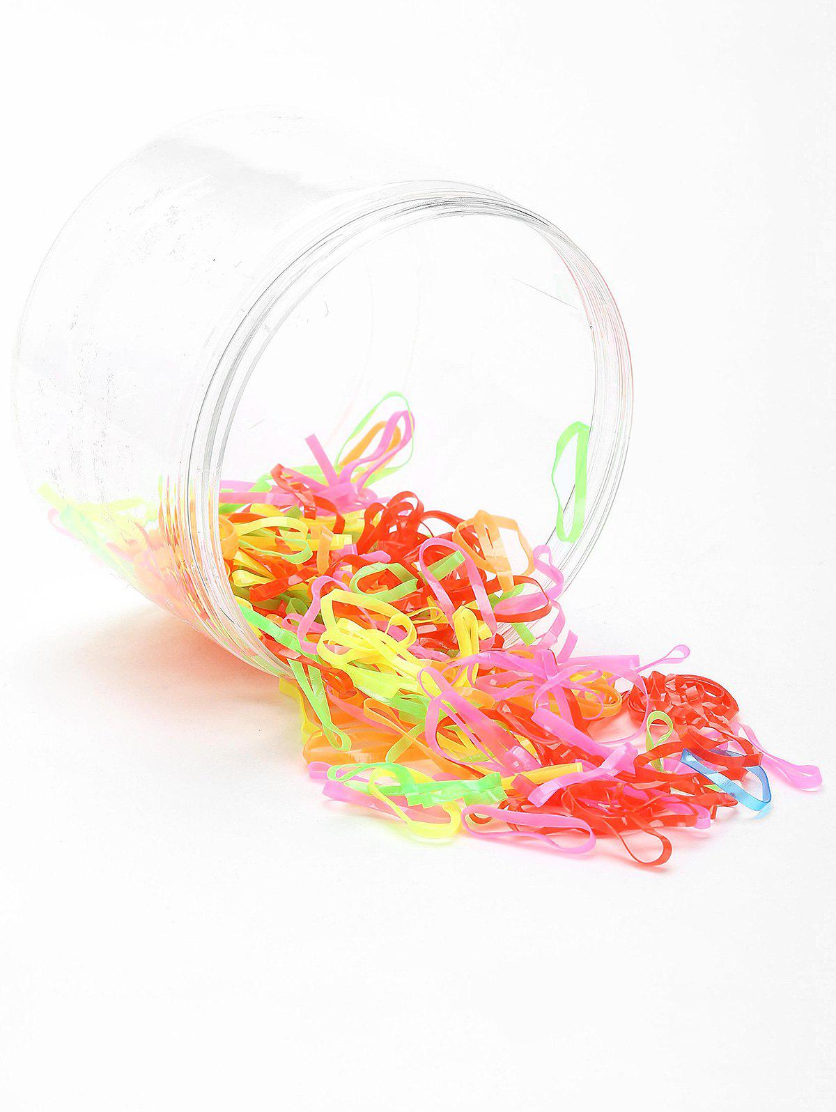 Unique 100 Pieces Hair Holder Elastic Bands Set