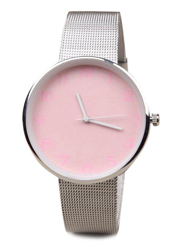 Shops Number Face Alloy Mesh Strap Watch