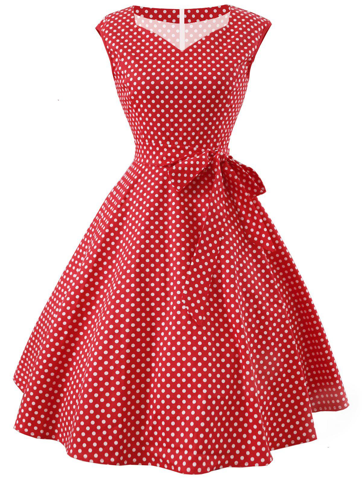 New Polka Dot Sweetheart Party Dress