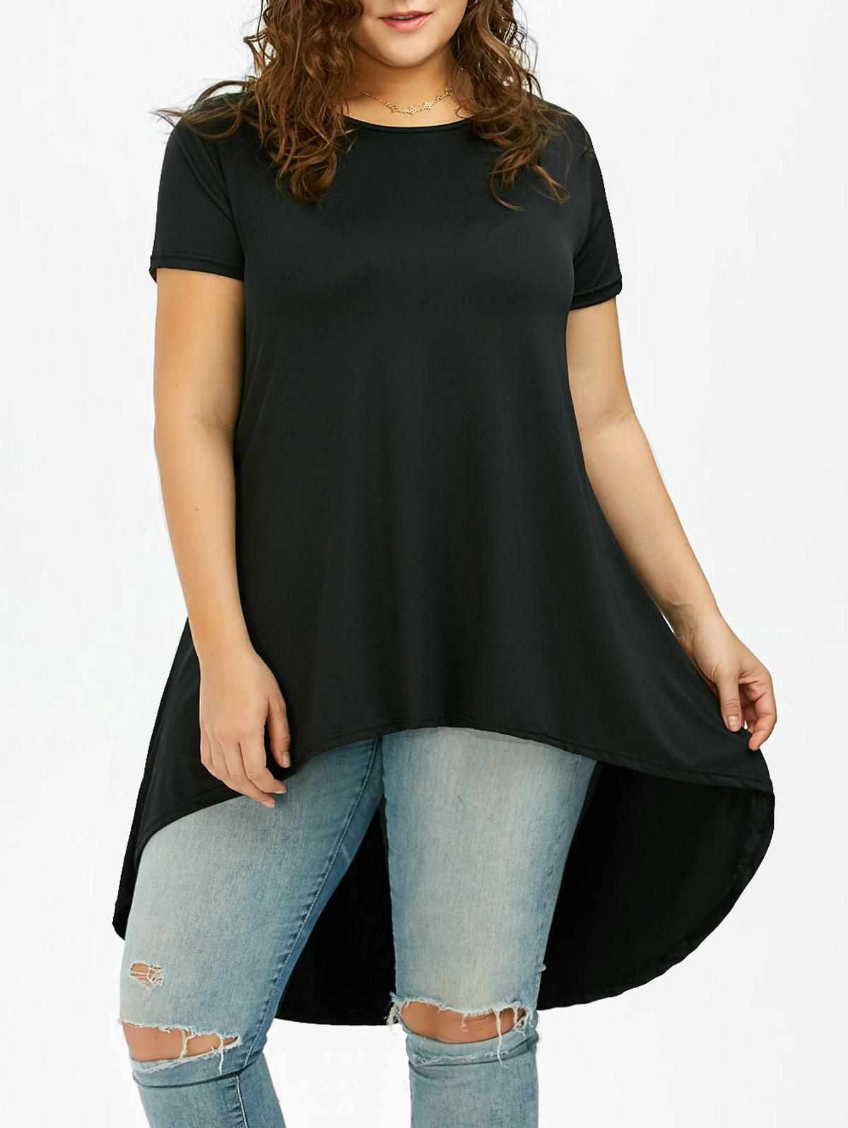 Online Long Plus Size High Low T-Shirt