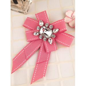 Multi-layered Bowknot Corsage Inlaid Rhinestone Brooch -