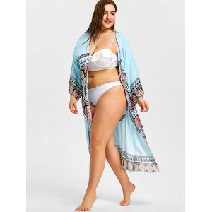 Beach Plus Size Motif Tribal Cover Up -
