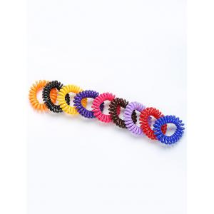 Telephone Wire Rubber Elastic Hair Band Set -