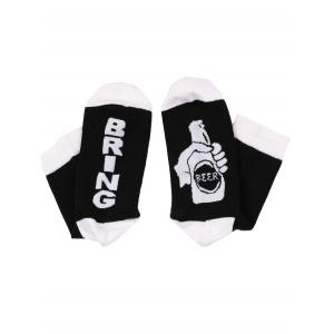 Chaussettes de Sport Motif Inscription Bring Beer -