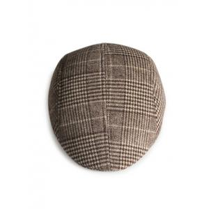 Chapeau de Newsboy à motif tartan simple -