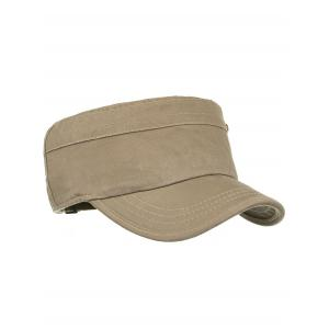 Unique Rivets Pattern Embellished Military Cap -