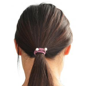 Simple Faux Pearl Elastic Hair Band Set -