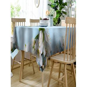 Flower Pattern Waterproof Table Cloth -