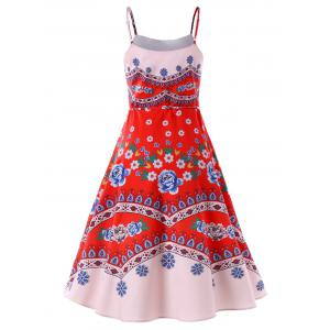 Imprimer Swing Spaghetti Strap Dress -