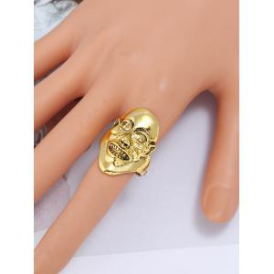 Unisex Plated Evil Face Punk Ring -