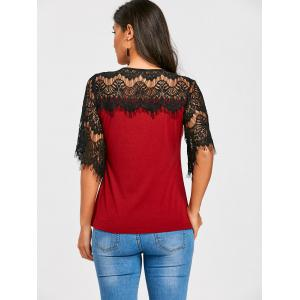 Crochet Lace Panel T-shirt -