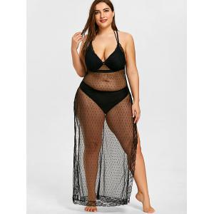 See Through Plus Size Beach Cover Up -