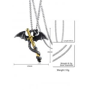 Flying Dragon Sword Pendant Necklace -