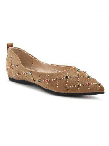Fancy Geometric Rhinestone Flats