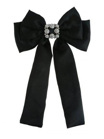 Sale Retro Artificial Gems Inlaid Double-layer Bowknot Corsage Brooch