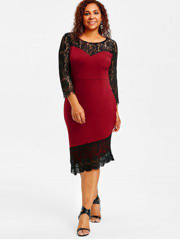Plus Size Red Formal Dress Free Shipping Discount And Cheap Sale