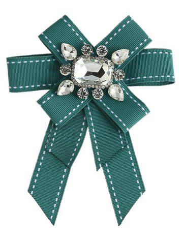 Unique Multi-layered Bowknot Corsage Inlaid Rhinestone Brooch
