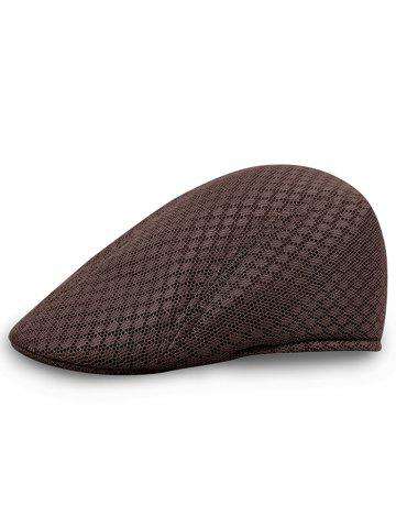 Outfits Solid Color Pattern Mesh Cabbie Hat