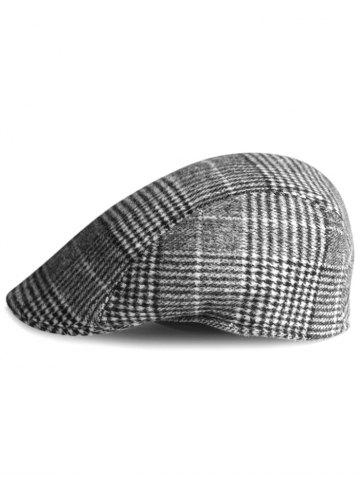 Shops Simple Tartan Pattern Embellished Newsboy Cap