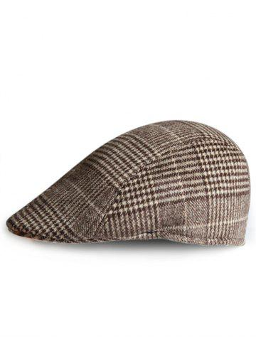 Chapeau de Newsboy à motif tartan simple