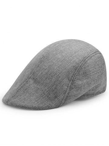Outfit Simple Solid Color Breathable Newsboy Cap