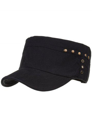 Buy Unique Rivets Pattern Embellished Military Cap