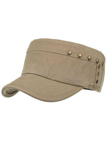 Fashion Unique Rivets Pattern Embellished Military Cap
