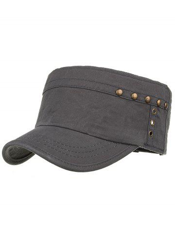Cheap Unique Rivets Pattern Embellished Military Cap
