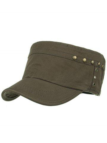 New Unique Rivets Pattern Embellished Military Cap