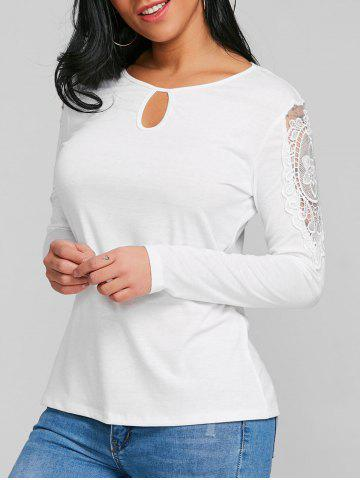 Chic Long Sleeve Keyhole T-shirt