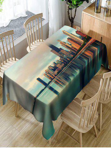 Shops Skyscrapers City Landscape Print Table Cover