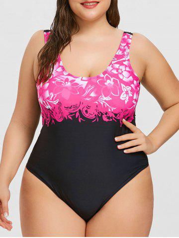 Online Plus Size High Cut One Piece Swimwear