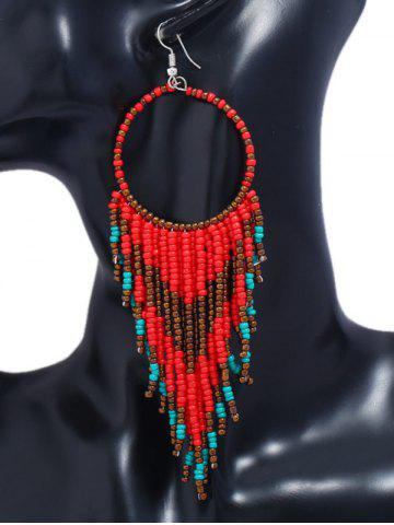 Shops Fringed Geometric Long Drop Earrings