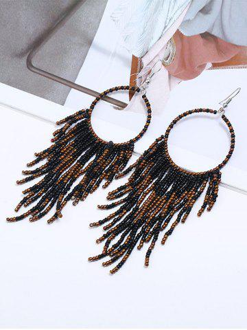 Outfits Fringed Geometric Long Drop Earrings