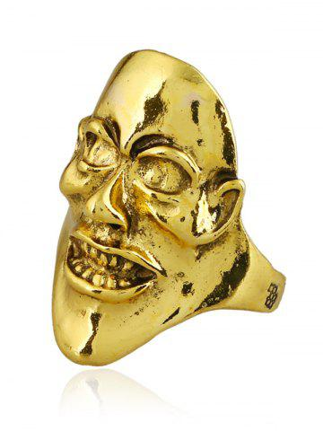 Store Unisex Plated Evil Face Punk Ring