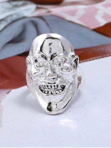 Hot Unisex Plated Evil Face Punk Ring
