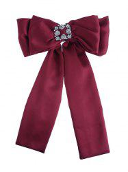 Retro Artificial Gems Inlaid Double-layer Bowknot Corsage Brooch -