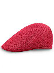 Solid Color Pattern Mesh Cabbie Hat -