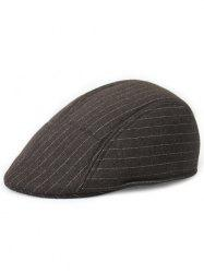 Unique Striped Pattern Embellished Newsboy Hat -