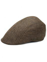 Simple Solid Color Breathable Newsboy Cap -