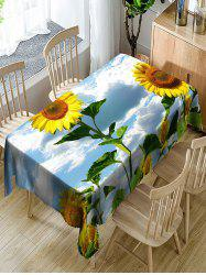 Nappe de Table Imperméable en Polyester Tournesols en 3D -