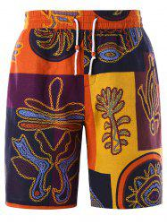 Ethnic Graphic Drawstring Bermuda Shorts -
