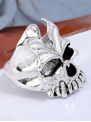 Punk Plated Metal Skull Ring -