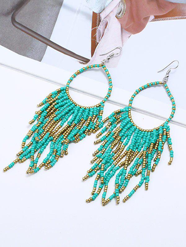 Chic Fringed Geometric Long Drop Earrings